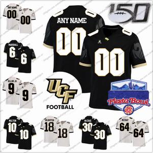 Özel 2019 UCF Knights Futbol Forması 150TH Herhangi Bir İsim Numarası 11 Dillon Gabriel 12 Quadry Jones 16 Tre Nixon 81 Alex Harris S-4XL
