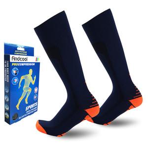 Toptan Erkekler Diz Yüksek Sıkıştırma Çorap Hızlı Kuru Yüksek Kaliteli Bacak Desteği Erkek Çorap Erkekler Için Hediyeler
