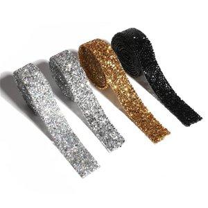 Giyim Dekorasyon Aplikler Crystal Strass Demir ile 1 Yard Dikiş Kristal Motif Strass Sıcak Fix Yapay elmas Bant Trim