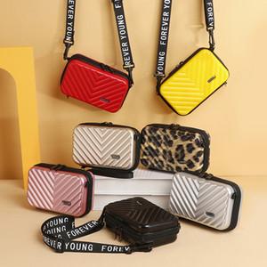Suitcase Shape Shoulder Bag Geometric Plaid Women Handbag Portable Cosmetic Storage Organizer Household Sundries Organization