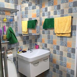 Nouveau bricolage épaissie salle de bain mur papier mur de salle de bains imperméable auto-adhésive avec des autocollants de tuiles stickers muraux PVC décoration mosaïque de toilette