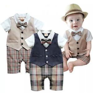 Toddler Neonato Vestiti per neonati Estate Little Gentleman Suit Battesimo Formale Party Tuta Tuta Abbigliamento per bambini Anni nuovo