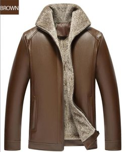 Mens Winter diseñador de la PU chaquetas de lana de manga larga solapa del cuello del diseñador de moda Hombre Ropa de la cremallera ocasional de la manera Ropa
