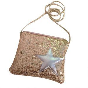 Children Messenger Bag Handbags Cute Kid Toddler School Bags Crossbody Bag Children Girls Star Sequins Coin Purse Shoulder