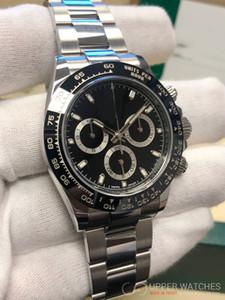 LussoDaytonaSvizzero CAL.4130 Movimento 40 millimetri Cosmograph 116500 116500LN automatico lavoro cronografo quadrante nero Mens Watch