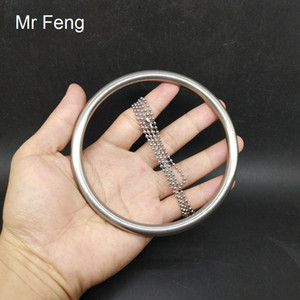 Stainless Steel 8*100 mm Ring 100 mm Chain Classical Magic Trick Game Educational Performance Prop ( Model Number H486 )
