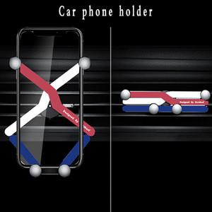 2020 nNeuer Drei-Farben-Auto-Telefon-Halter Auto-Klimaanlage Luft-Anschluss Handy-Gravity Stützrahmen