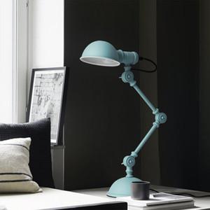 Lampada da tavolo semplice Lampada da studio nordica Lampada da comodino Camera da letto con luce a LED Lampada da comodino americana Lampada da lavoro con braccio meccanico Lampada da scrivania a LED