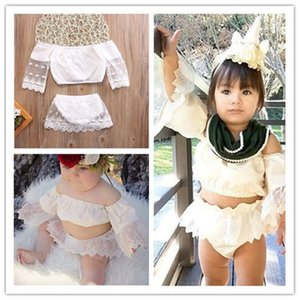 Baby Cute Skirt 2 Pcs Sets Fashion Girls Outfits Lace Sleeved Tops T-shirt+ Short Skirt Two-pieces Tracksuit Summer Lovely Girl Skirt E22501