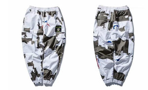 Calças Hiphop Rua Calças de carga Casual Mens Primavera Camouflage Designer Long Pants