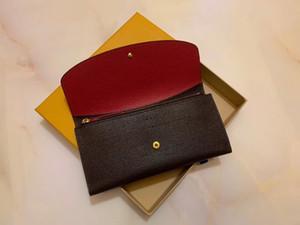 2020 neue Rotunterseiten Dame lange Designer Brieftasche Mehrfarben Designer Geldbörse Kartenhalter Frauen klassisches Reißverschluss pocke 60136 LB81 kein Kasten