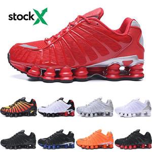 Nike Shox TL shoes Chaussures de course pour Hommes Argent métallisé Clay orange Triple Noir Bleu Université Sunrise chaussures de sport de marque Red entraîneurs sportifs