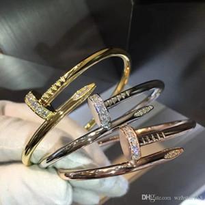 2019 braccialetti braccialetto di fascino 100% amanti Nuova 316L titanio marchio chiodo in acciaio punk donne e braccialetto uomo libero di trasporto