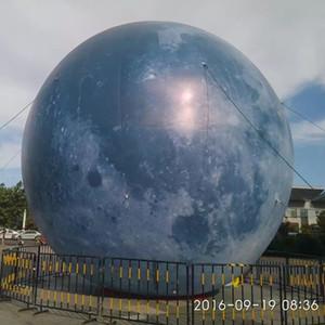 3m coloré ballon gonflable Lune avec LED Strip City Parade Voir Décoration