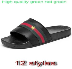 Brand Designer-Hausschuhe, grün rot grün Band Flip-Flops Designer Sandalen, Designer-Slides, Designer-Schuhe, Herren Strand Hausschuhe G7.20