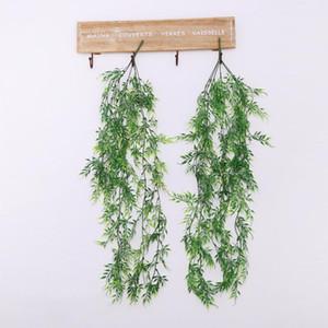 75 centímetros Artificial Ivy Green Leaf Garland plantas falsas Vinha Folhagem Flores Home Decor plástico Artificial Flower Rattan Cordas