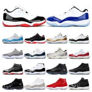 Mens Basketball Shoes 11s bianchi Bred CONCORD Snakeskin VAST Cool Grey GAMMA Leggenda BLU 11 sport delle donne della scarpa da tennis formatori di moda all'aperto