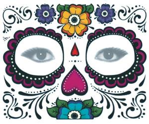 Хэллоуин Temporary Face Art Водонепроницаемая маска Сахар Череп татуировки красоты наклейки воды Перенесите партии украшения аксессуары GB1097