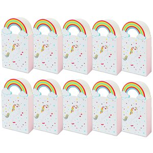 10pcs Kraft Paper Unicorn candy box Gift Bags Sweets Candy Packing Pouches wedding baby kid birthday party decor Wrapping Supply
