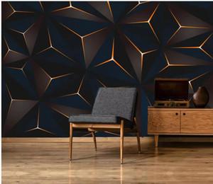 de beaux paysages Fonds d'or lignes modernes minimalistes fond abstrait tv géométrique wa