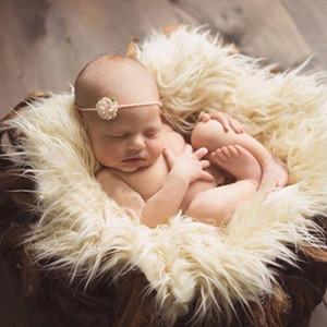 Yenidoğan Sahte Kürk Prop Sepet Filler Stuffer Fotoğraf Dikmeler Bebek Fotografia Fotoğrafçılık Backdrop Arkaplan Battaniye Bebek Kışt