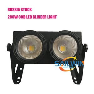 Rusya Stok 4 * 100W 400W COB Sıcak Sarı Işık / Parti için serin beyaz LED Studio kör Işık DJ İzleyici Aydınlatma