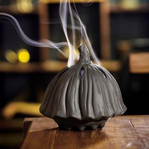 Ceramica bruciatore incensiere incenso con bruciatore incenso di sandalo che può mettere zanzara-repellente 22 * 15,6 centimetri Double Dragon benedizione, 21 * 11CM loto