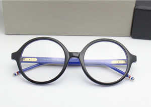 2020 High-quality TB500 glass retro-vintage big-round frame pure-plank with full-set case prescription galssses freeshipping