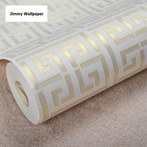 Heißes verkaufendes griechisches Schlüsselgitter-modernes geometrisches Tapeten-Hotel-Studien-Hintergrund-Wand PVC-Badezimmer-wasserdichte Tapete
