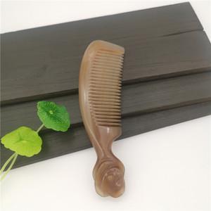 الطبيعية الأبيض بافالو القرن مشط نمط الصينية Classicle روز مشط الاستاتيكيه مناسبة للمتوسط قصير الشعر