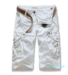Men Camouflage Multi-pocket Solid Color Shorts Summer Cotton Casual Men Capris Pants Comfortable Camo Men Plus Size Cargo Shorts XM01