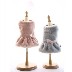 Design Dresses for Dogs Winter Clothes for Small Size Dog Pink Grey Choice Dog Skirts Pet Products Accessories