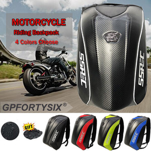 SSPEC Universal Carbon Fiber Motorcycle Helmet Backpack Motocross Riding Racing Storage Bag Motorbike Bag Travel Tool Waterproof Bags