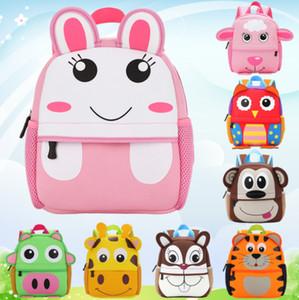 8 Stil Kinder 3D Niedliche Tierdesign Rucksack Kleinkind Kind Neopren Schultaschen Kindergarten Cartoon Komfortable Tasche Giraffe Affe Eule