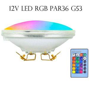 RGB LED Par36 light Swimming pool Landscape 12V DC boat lighting bulb Red Green Blue 10W remote controller dynamic color AR111