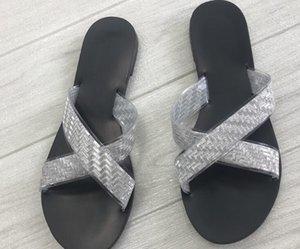 New Arrival 2020 Women's Slide Sandal Roman Style Cross Beach Sandals Gladiator Dress Sandals Casual Summer Shoes Cross and women sandals