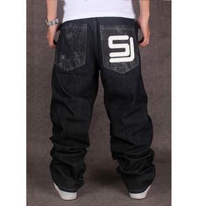 2017 dos homens preto baggy jeans hip hop designer cholyl marca calças de skate solto estilo verdadeiro hiphop rap jeans boy