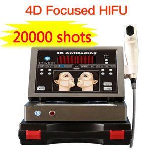 20000 scatti 12 linee HIFU 3D con 8 cartucce ad alta intensità focalizzati ultrasuoni pelle sollevamento di fronte serraggio macchina antirughe 4d HIFU