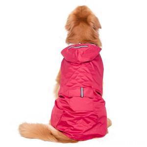 Светоотражающие капюшоном плаща Водонепроницаемый Pet Packable дождь Пончо дождевик Одежда Reflective с капюшоном собак Дождевик Водонепроницаемый собак Pet Supplies S