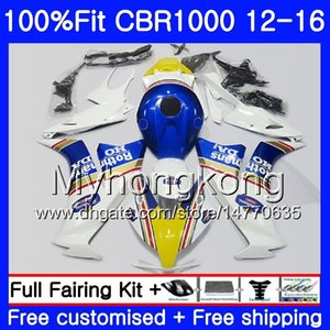حقن لهوندا CBR 1000RR 2012 2013 2014 2015 2016 273HM.54 CBR1000 RR CBR 1000 RR CBR1000RR 12 13 14 15 16 Rothmans Blue hot Fairings