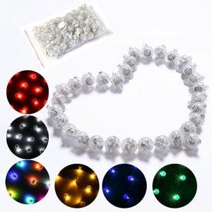 100 Pçs / lote Multicolor Rodada Led Flash Bola Lâmpada Balão de Luz Longa tempo de Espera para a Lanterna de Papel de Balão de Luz Festa de Casamento Decoração