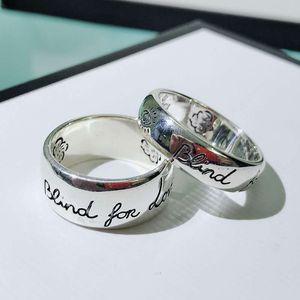 anello gioielli delle donne anello dal design di lusso senza paura coppia di designer più venduti S925 amore argento