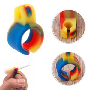 Silicone titolare fumo di sigaretta Blunt comune Finger formato dell'anello regolare Strumenti fumatori accessori regalo per l'uomo tabacco accessori per il fumo
