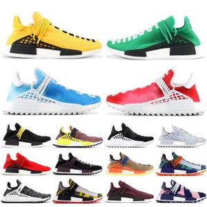 BBC многоцветный NMD Human Race Pharrell Williams Solar пакет Mother Inspiration пакет Белый Черный Желтый Мужские Женские дизайнерские туфли кроссовки