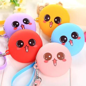 Candy color Cartoon cute zero wallet mini coin purse zipper Silicone Candy Color pouch Wrist band key bag
