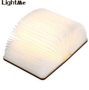 LightMe قابلة للطي كتاب مصباح البسيطة ضوء الجدول دافئ ليلة الخفيفة LED خشبي USB مكتب مصباح ليلة نوم ديكور الإضاءة