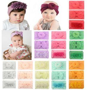 US STOCK 3PCS Enfants élastique Floral Bandeau cheveux Baby Girl bowknot hairband Set Fashion Girls Turban Hairband Coton