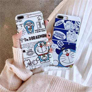 귀여운 만화 도라에몽 애플 shockproof 전화 케이스 iPhone6s 7 8plus 실리콘 쉘 애플 X 최대 XS XR 징글 고양이 전화 케이스