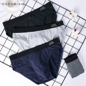 New Men's Briefs Male Underwear Cotton Men Solid Underwear Underpants 4pcs\lot DO DO MIAN Plus Size Young Cuecas SH190906
