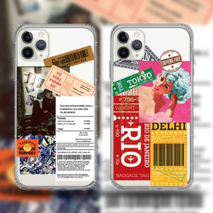 Newst soft tpu transparent phone cases For iPhone 11 pro max XS XR 8 7 plus graffiti label sexy gril fashion Designer phone cover